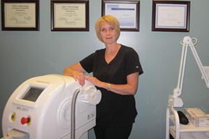 Almonte laser hair removal technician Diana Kreuzer Blanchard
