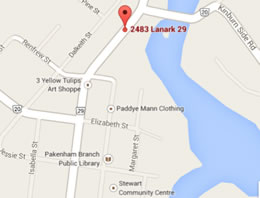 Location map for hair removal service On the Beam Laser in Almonte
